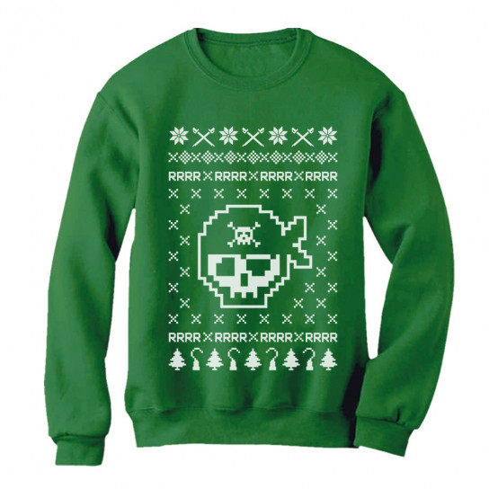 Ugly Christmas Sweater Funny.Pirates Ugly Christmas Sweater Funny Xmas Unisex Christmas Greenturtle