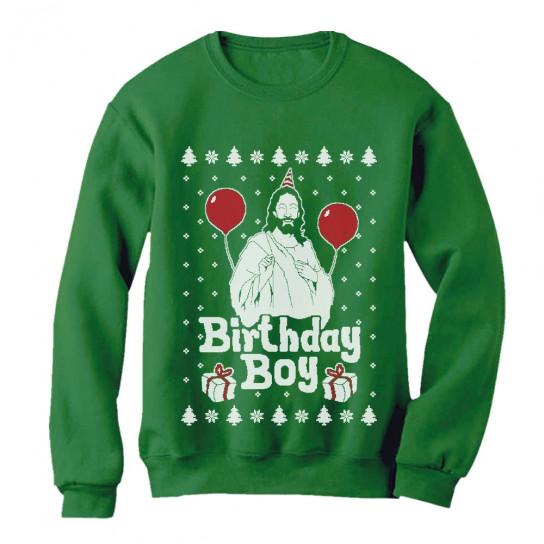 jesus birthday boy ugly christmas sweater xmas holiday