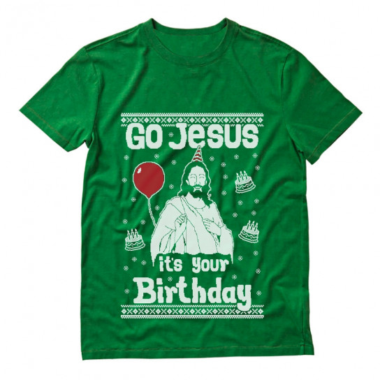 Go Jesus it's Your Birthday Ugly Christmas Sweater