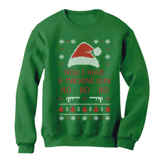 Now I Have a Machine Gun Ho-Ho-Ho Ugly Xmas Sweater