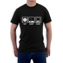 Coder Gift Idea - Eat Sleep Code - Funny Programmer