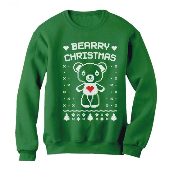Bearry Christmas Cute White Bear Ugly Xmas Sweater