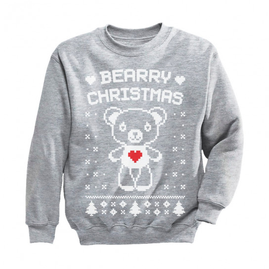 Bearry Christmas Childern's Ugly Xmas Sweater Cute