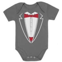 Red Bow Tie Printed Suit Tuxedo