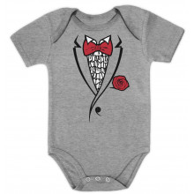 Ruffled Tuxedo With Red Bow Tie
