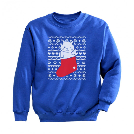 Ugly Christmas Sweater Cat.Cat In Stocking Kitty Ugly Christmas Sweater Christmas Greenturtle