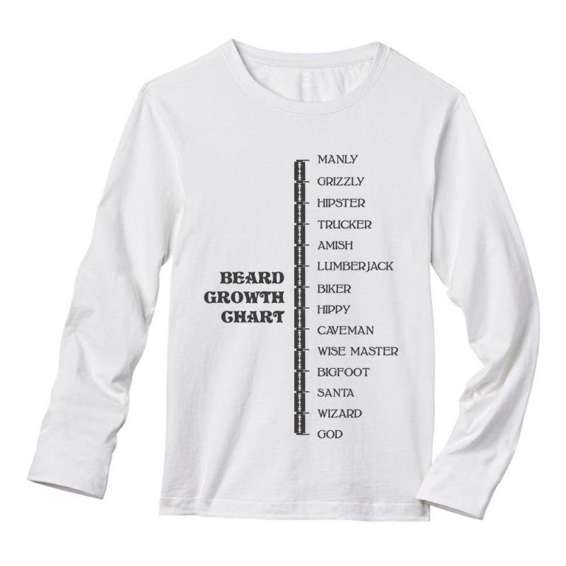 Beard Growth Chart Gift Idea Funny Manly God Scale Beards