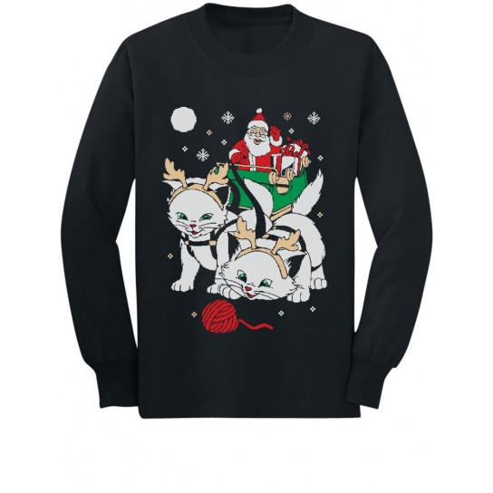 Cats Santa Ride Kittens Ugly Christmas