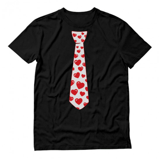 Red Hearts Tie for Valentine's Day Love