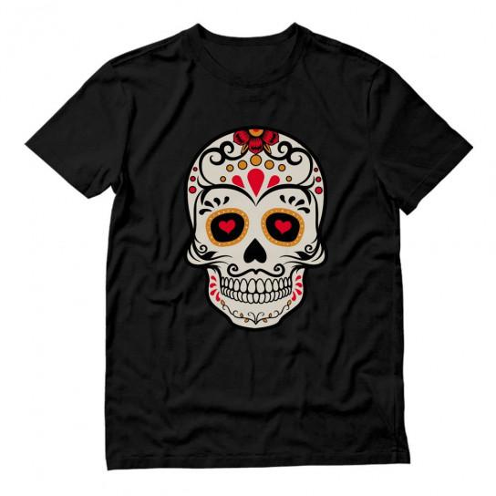 Mr. Sugar Skull Rose Eye Day of The Dead Gothic
