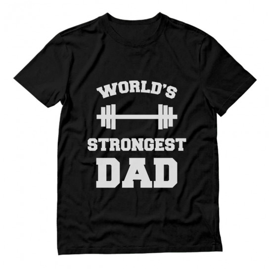 Bodybuilder Gift Slogan Worlds Strongest Dad