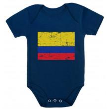 Colombia Flag Vintage Style Retro