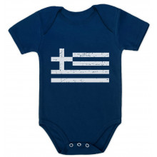 Greece Flag Vintage Style Retro Greek