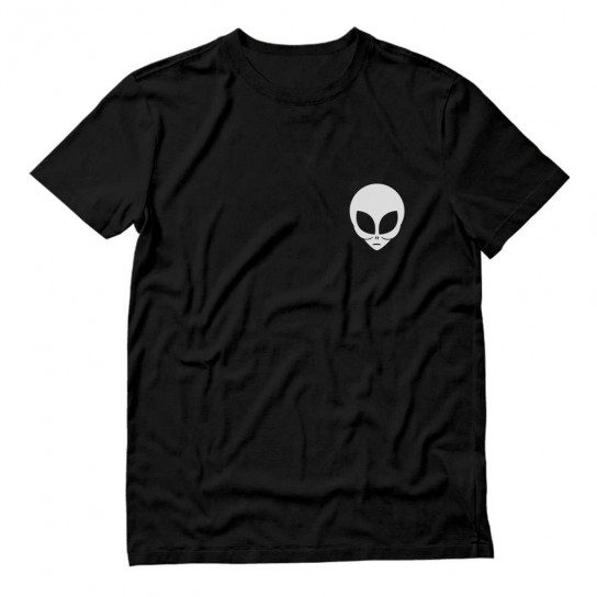 White Alien Face Print