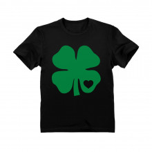 Green Clover with Heart