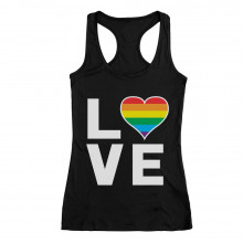 Love - Gay & Lesbian Pride Rainbow Flag Heart Equality