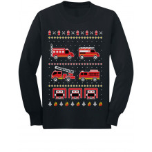Firetrucks Firemen Ugly Christmas Sweater