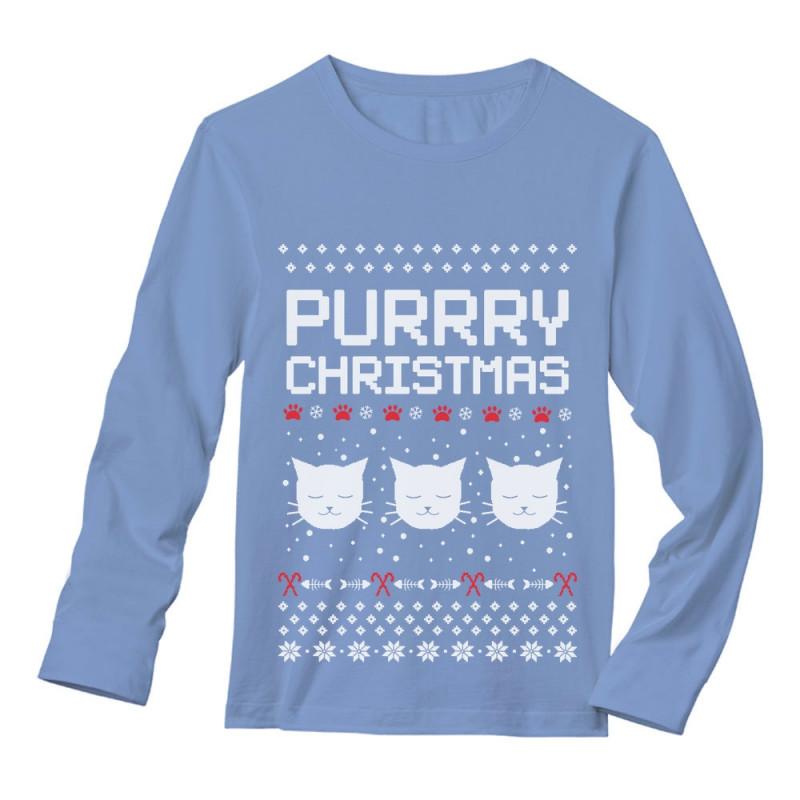Purrry Christmas Ugly Sweater Christmas Greenturtle