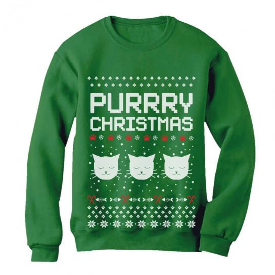 Ugly Sweater Christmas.Purrry Christmas Ugly Sweater Christmas Greenturtle