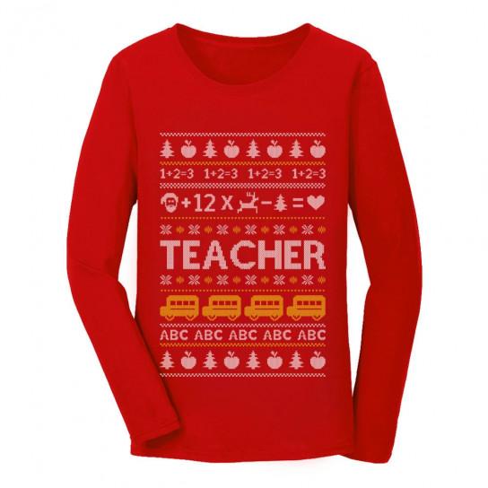 Christmas Sweaters Ugly.Teacher Ugly Christmas Sweater Christmas Greenturtle