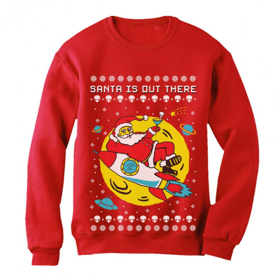 dbb740ec67ef6 ... t shirt shop shirts. Back. Santa s Out There UFO Alien Space Rocket  Ugly Christmas