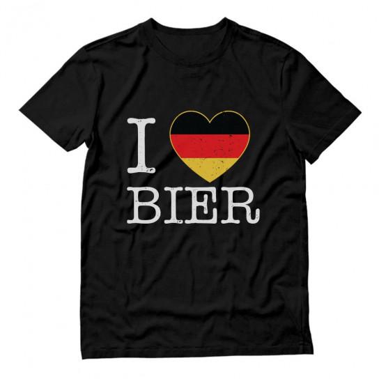 I Love Bier Oktoberfest German Flag