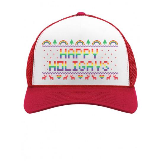Happy Holigays Rainbow Gay & Lesbian Pride Ugly Christmas
