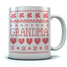 Grandma Ugly Christmas Mug