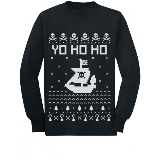 Yo Ho Ho Christmas Pirate's Ship Ugly Xmas