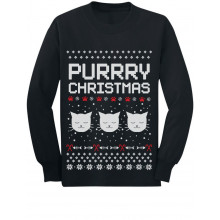 Purrry Christmas Ugly Sweater Cute Cats