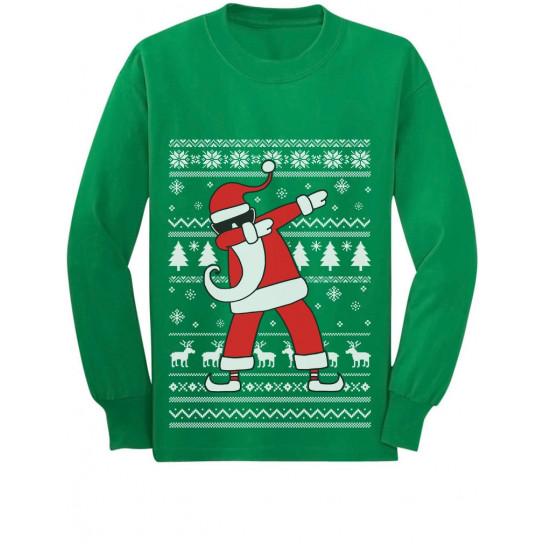 Dabbing Santa Funny Ugly Christmas Party