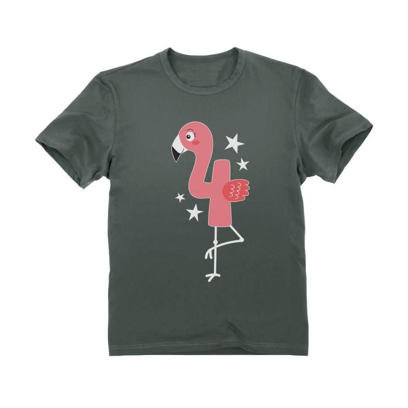 Flamingo 4th Birthday Gift Four Year Old