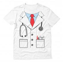 White Doctor Costume Men