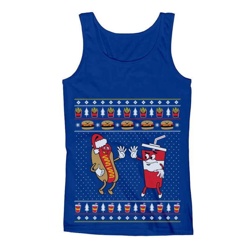 Funny Junk Food Burger Amp Hot Dog Ugly Christmas Sweater