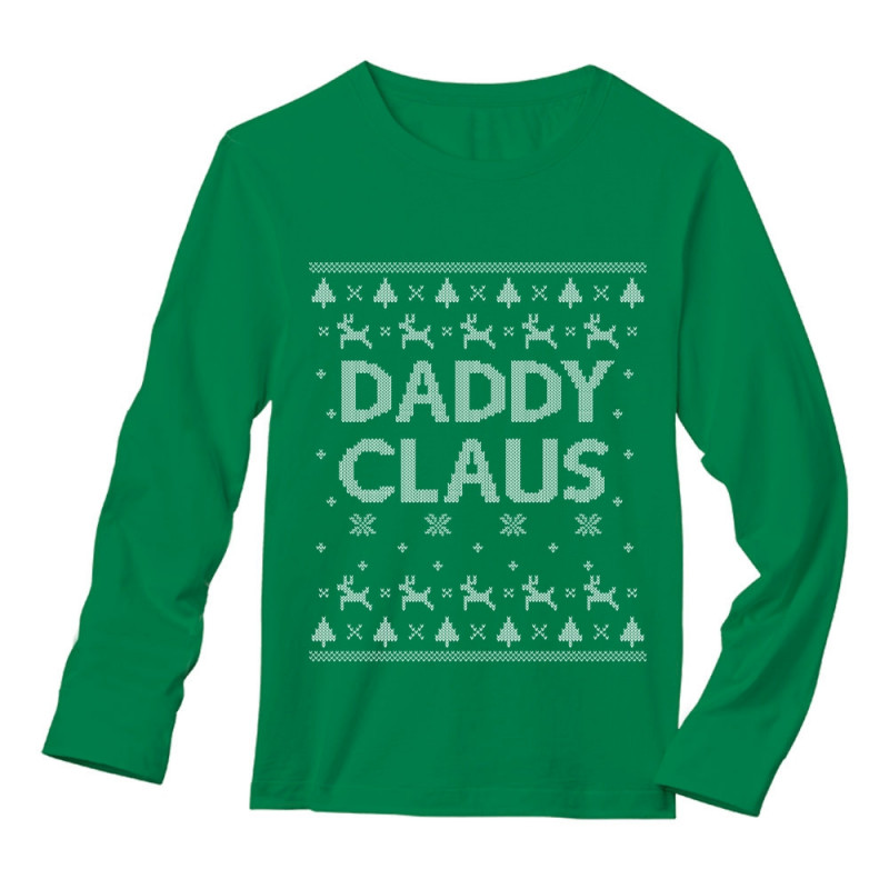 daddy claus classic holiday father ugly christmas sweater - Classic Christmas Sweaters