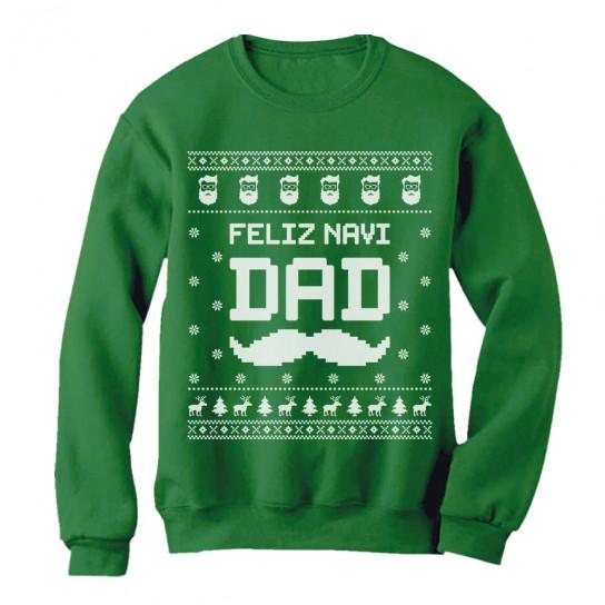 Feliz NaviDAD Hunny Holiday Father Ugly Christmas Sweater
