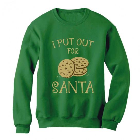 I Put Out For Santa Christmas Christmas Greenturtle