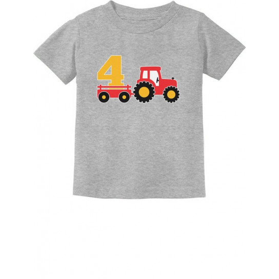 Birthday Tractor 4 Year Old Gift