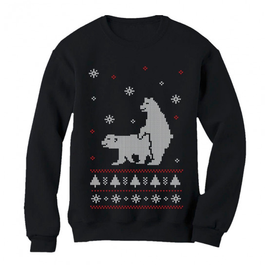 Humping Polar Bears Ugly Christmas Sweater Christmas Greenturtle