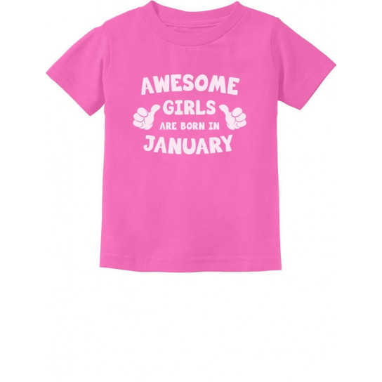 Awesome Girls Are Born In January Birthday