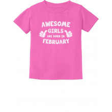 Awesome Girls Are Born In February Birthday
