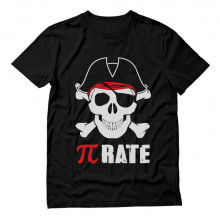Pi-Rate - Pirate Skull and Crossbones