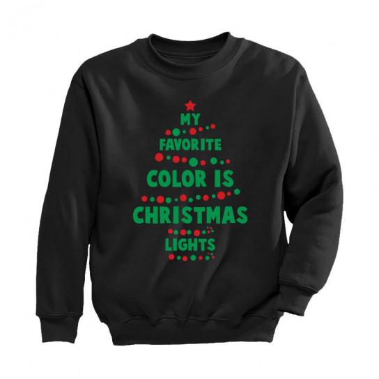 My Favorite Color Is Christmas Lights Christmas Greenturtle