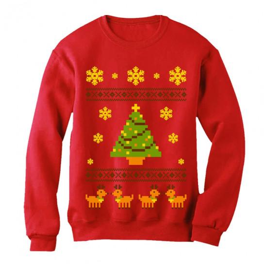 ugly christmas sweater reindeer xmas tree - Reindeer Christmas Sweater