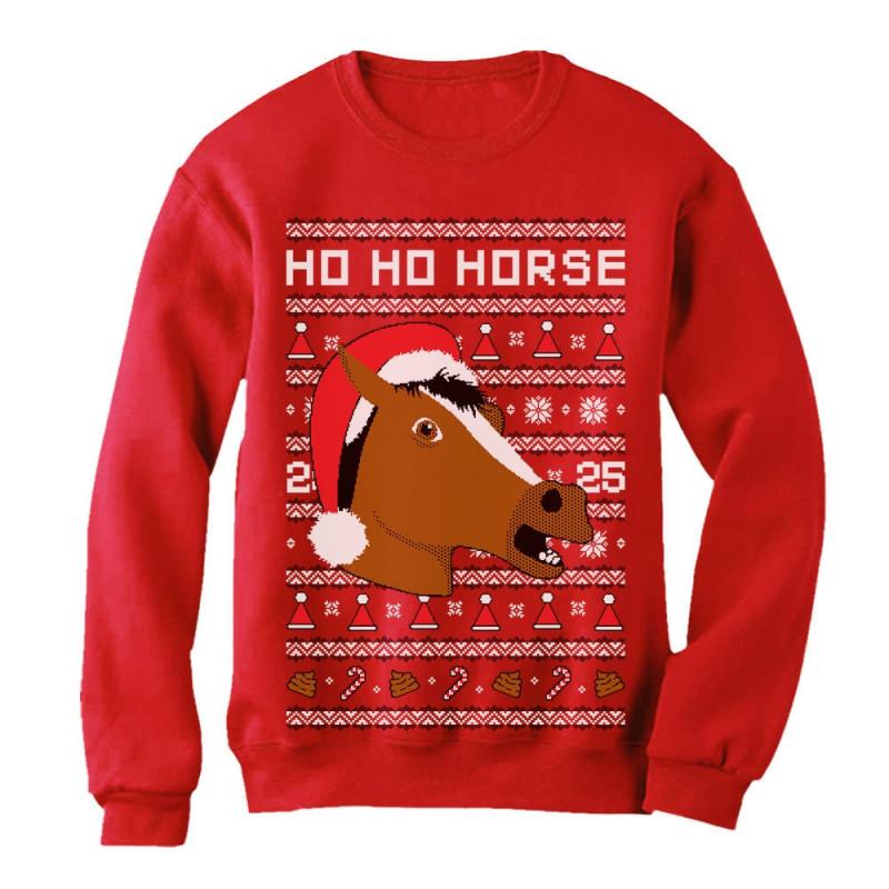 Horse Mask Ugly Christmas Sweater Christmas Greenturtle