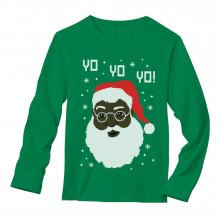 black santa ugly christmas sweater - Black Ugly Christmas Sweater