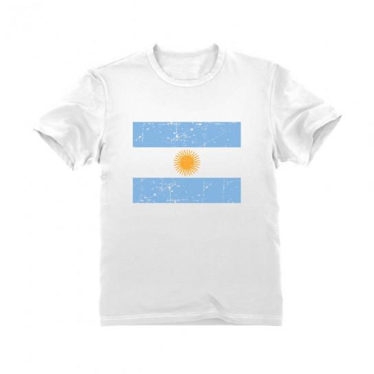 Argentina Flag Retro Vintage Style - Children