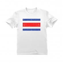 Costa Rica Retro Style Flag