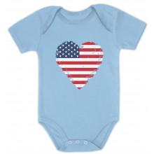 American Heart Flag Love USA