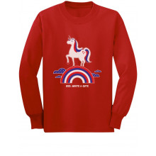 Red White & Cute 4th of July USA Unicorn